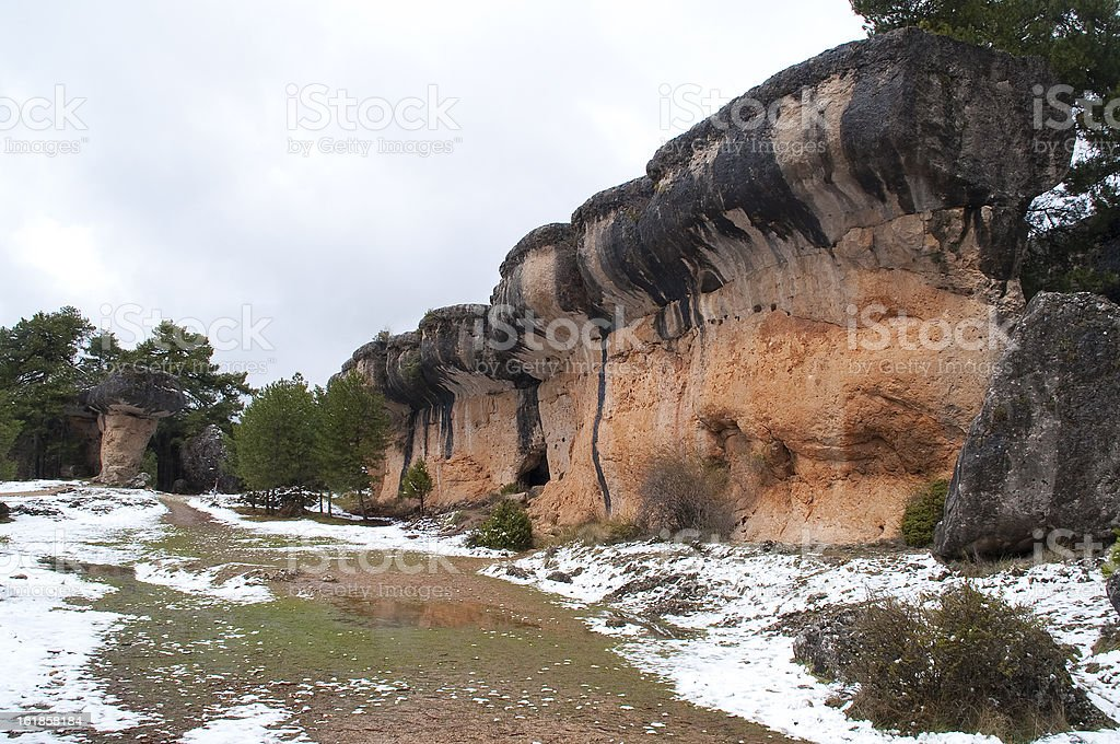 Weird ways shaped by erosion and nature royalty-free stock photo