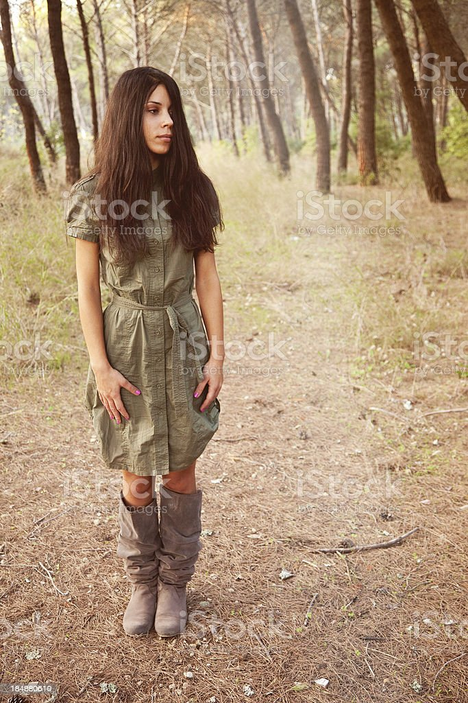 Weirdo In The Wood royalty-free stock photo