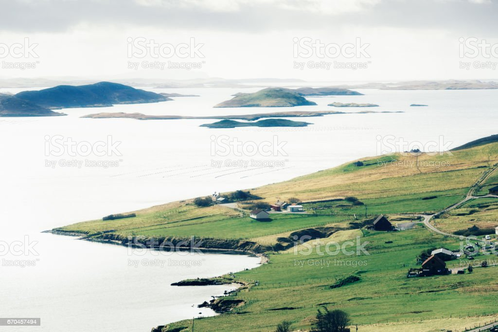 Weisdale Voe, Shetland Islands, Scotland stock photo