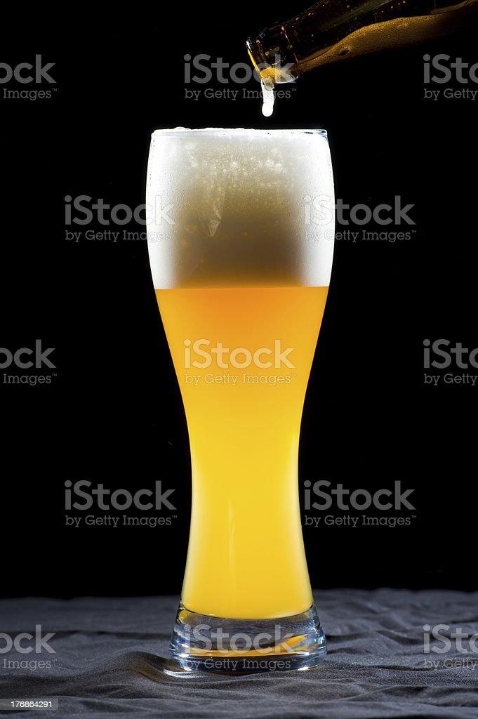weiss beer stock photo