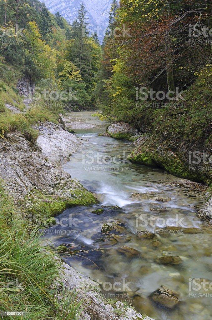 Weissbach Gorge near Inzell stock photo