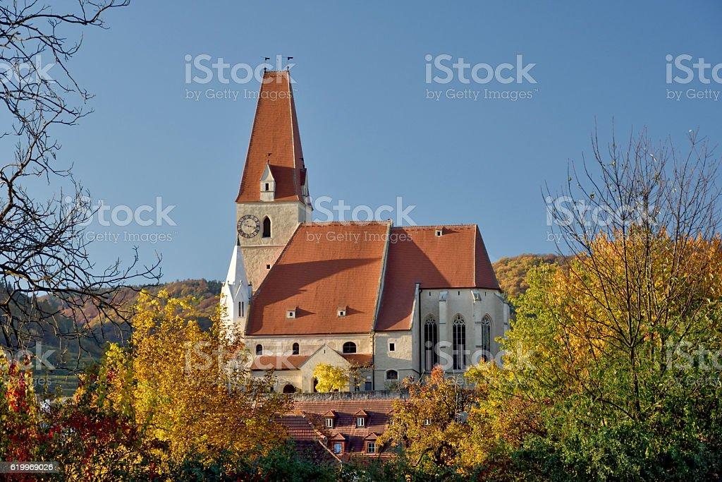 Weissenkirchen Church stock photo