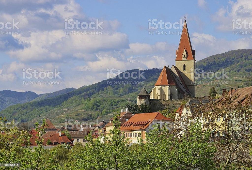 Weissenkirchen in Wachau church stock photo