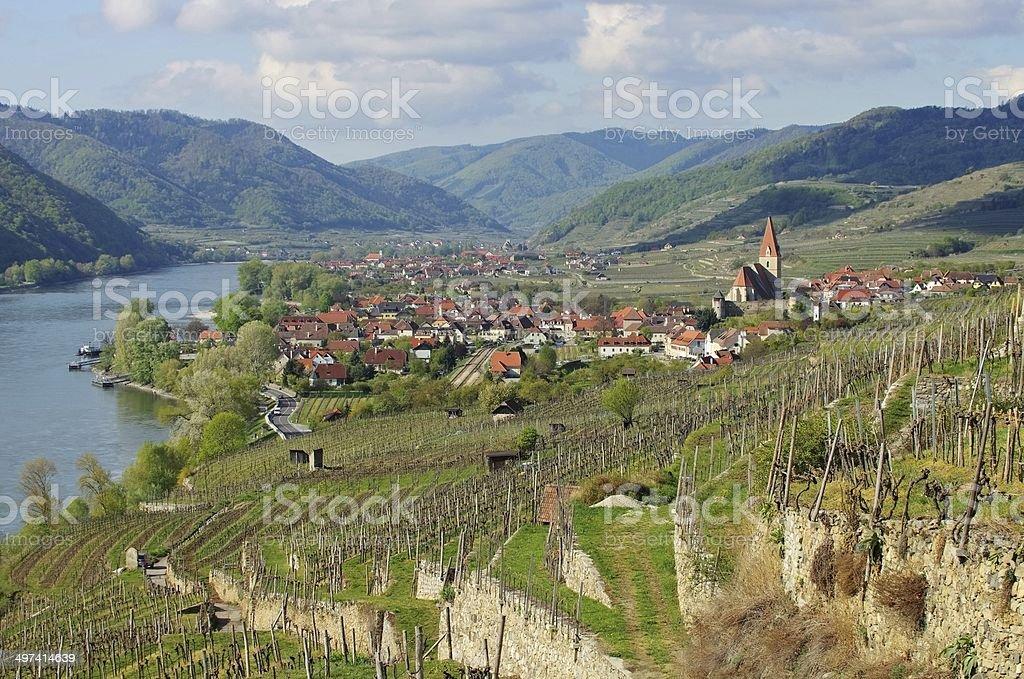 Weissenkirchen in Wachau stock photo