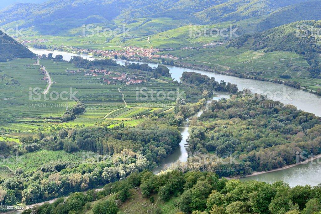 Weissenkirchen on river Danube / Wachau / Austria stock photo