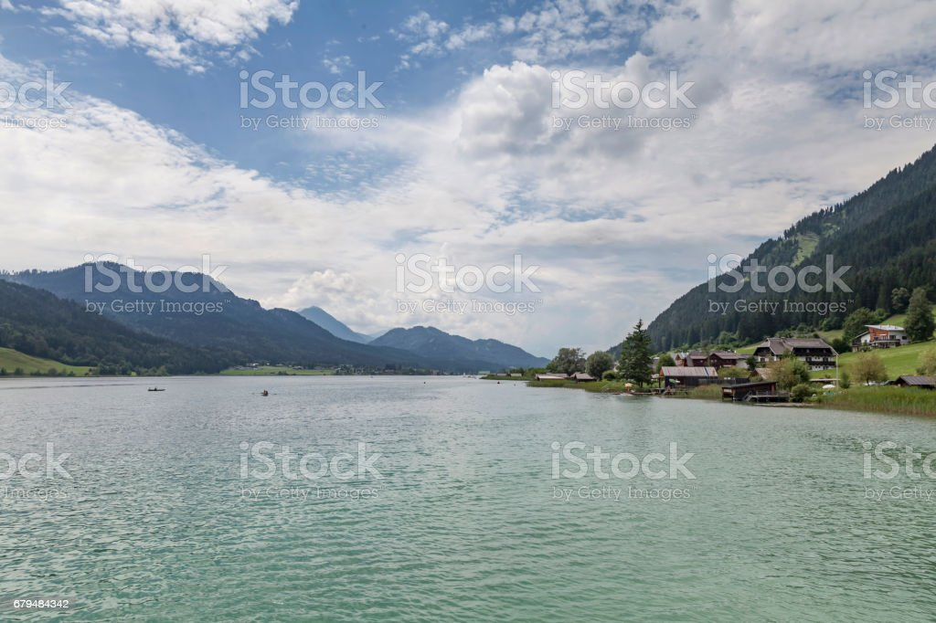 Weissensee, Kaernten stock photo