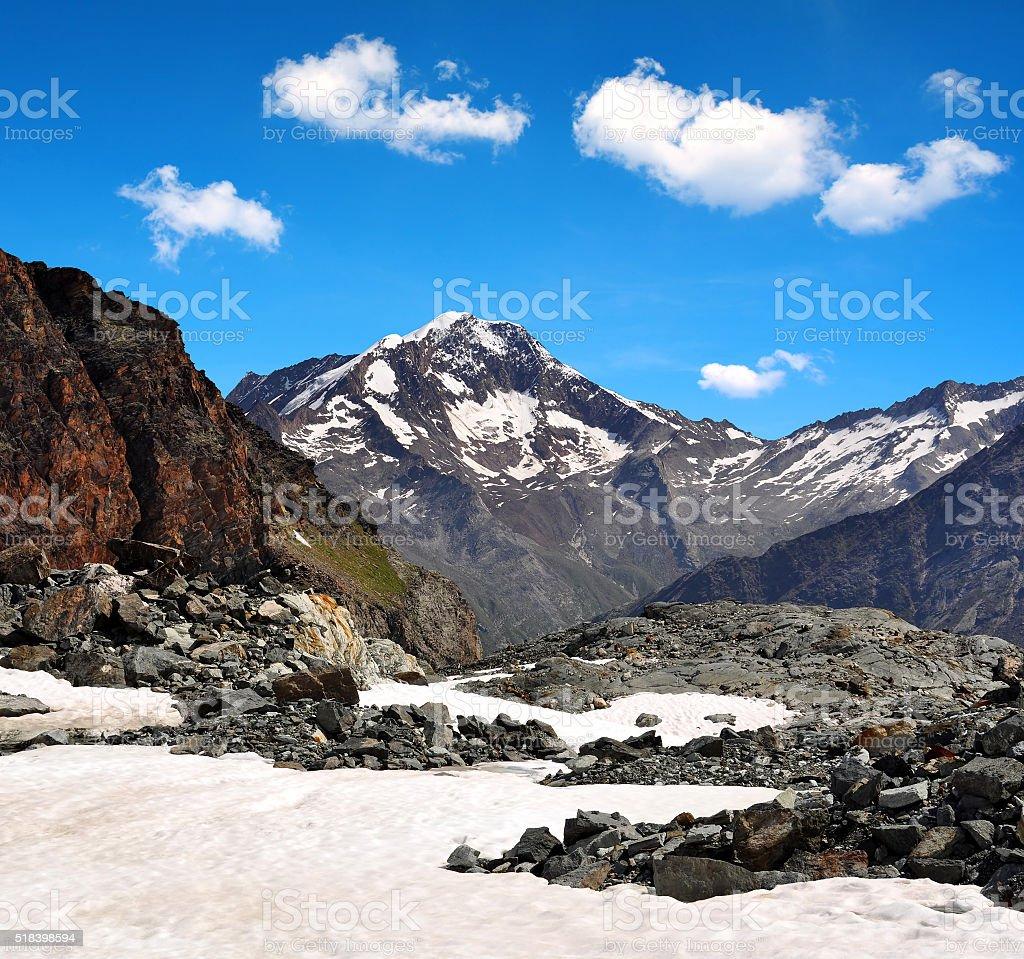 Weissmies mountain in the Pennine Alps stock photo