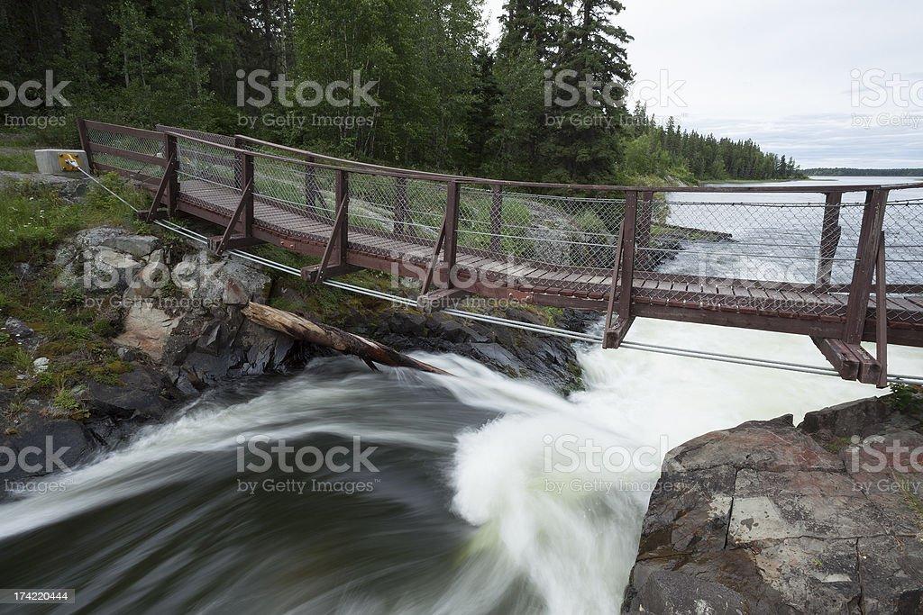 Wekusko Falls Manitoba royalty-free stock photo