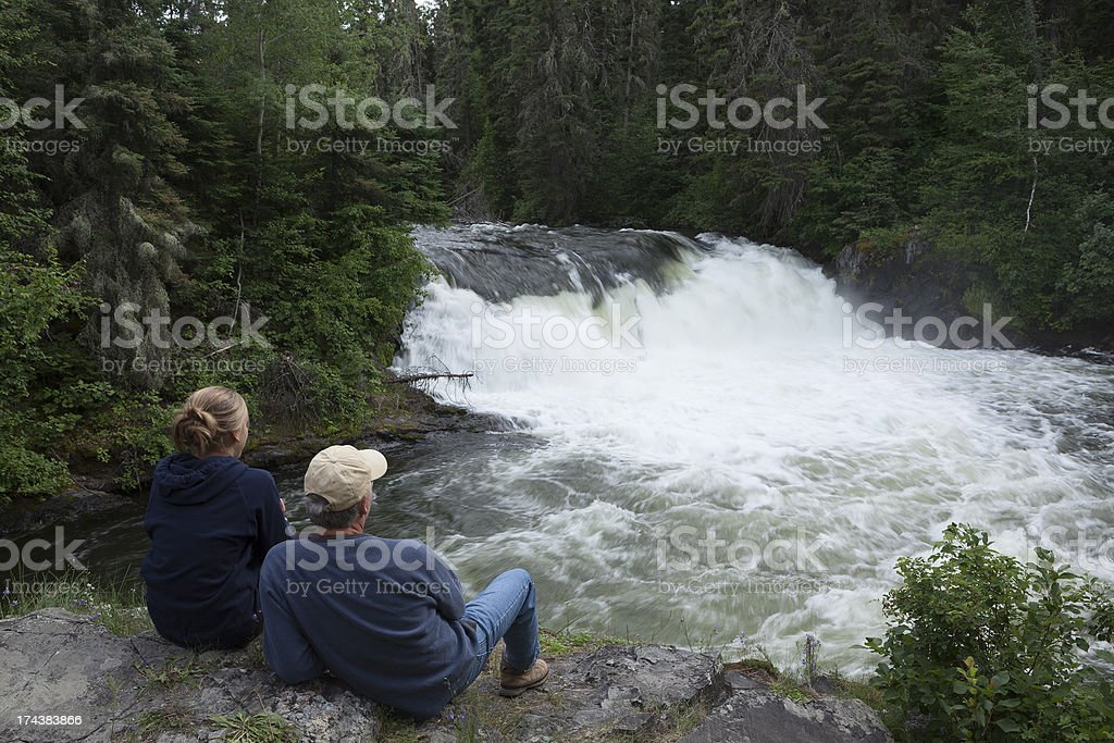 Wekusko Falls Manitoba royalty-free stock photo