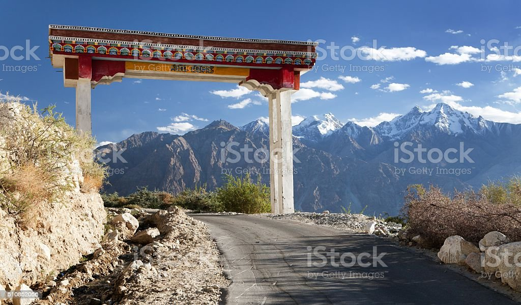 Wel come to Nubra valley and Samstanling monastery stock photo