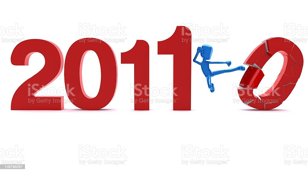 Welcome 2011 & Good Bye 2010 royalty-free stock vector art