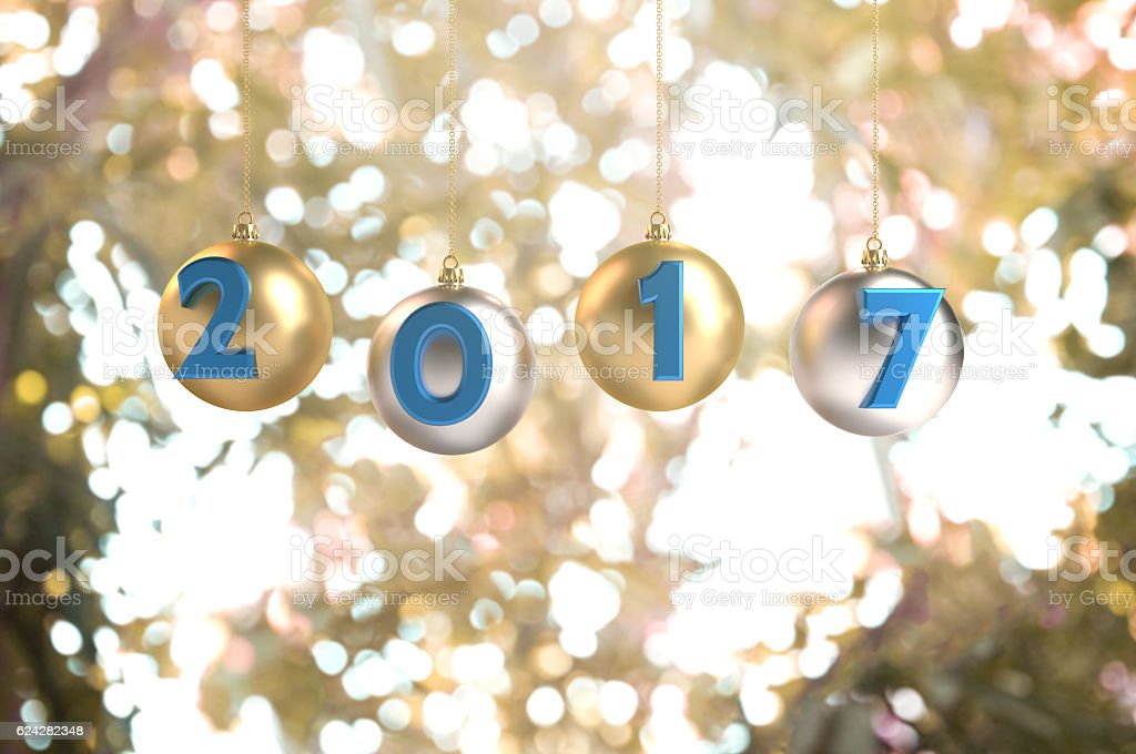 Welcome 2017, Happy New Year! stock photo