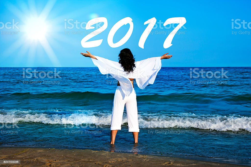 Welcome 2017 stock photo