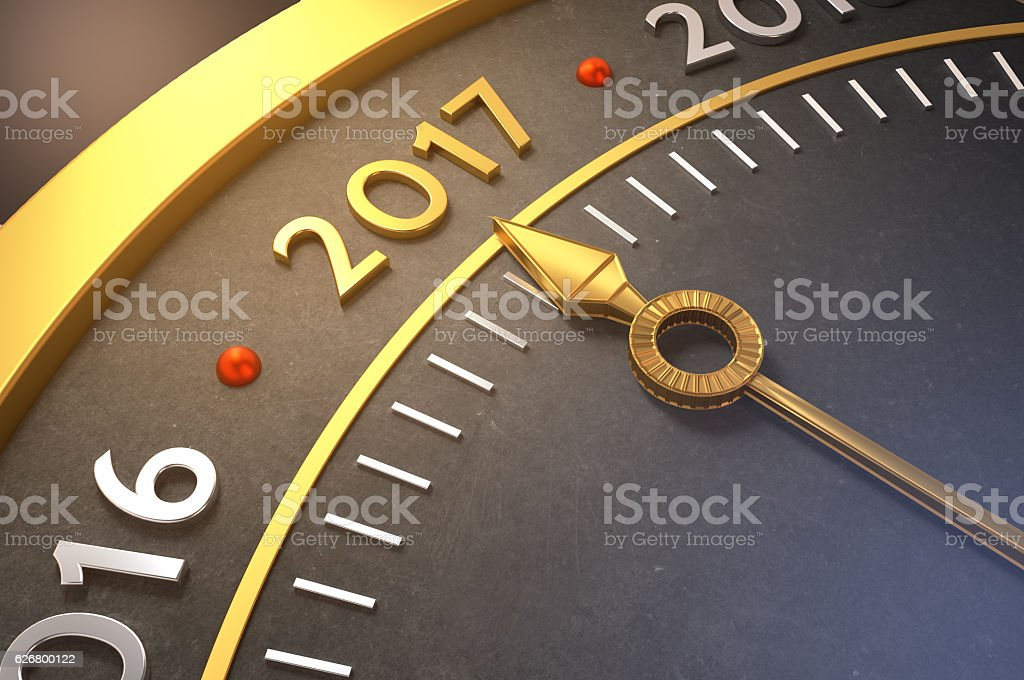 Welcome 2017! stock photo