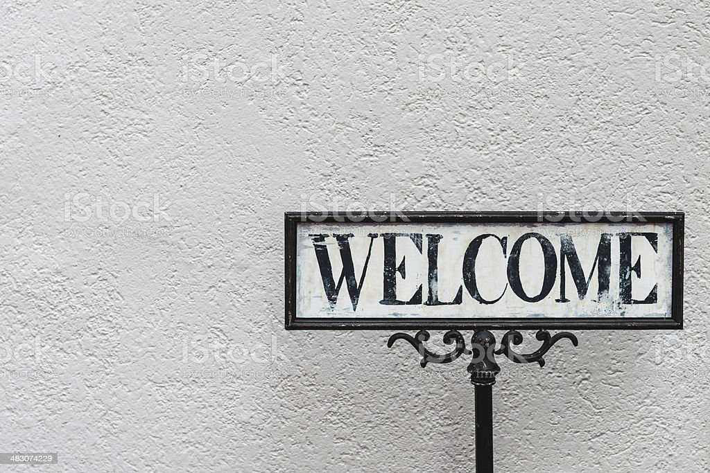Welcome - Access Sign stock photo
