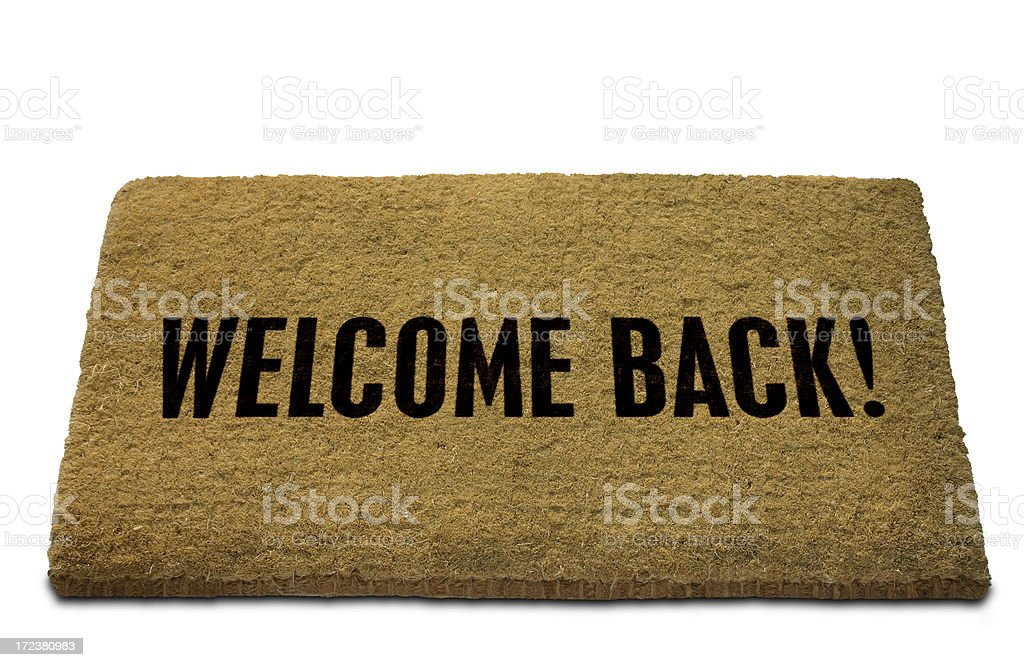 Welcome Back! Doormat royalty-free stock photo