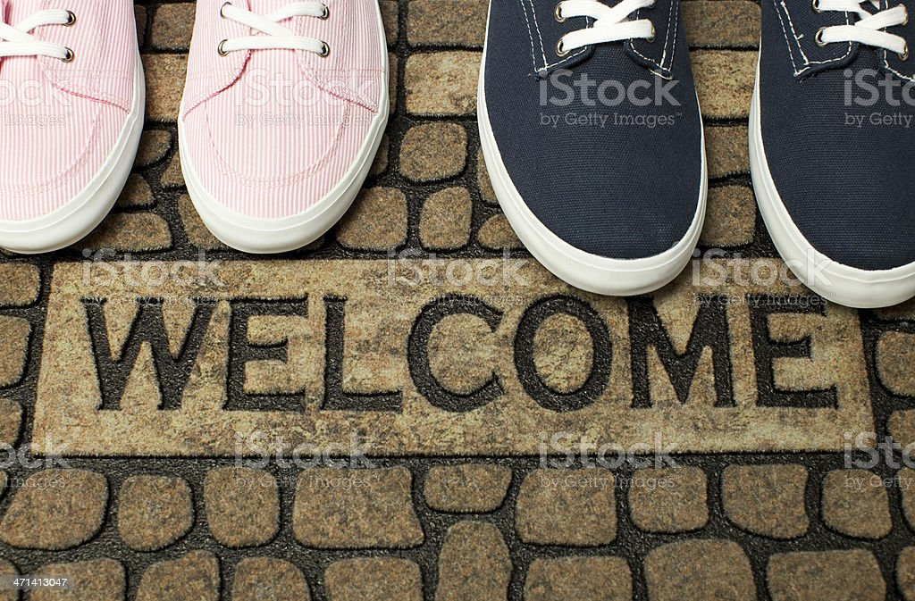 Welcome Back stock photo