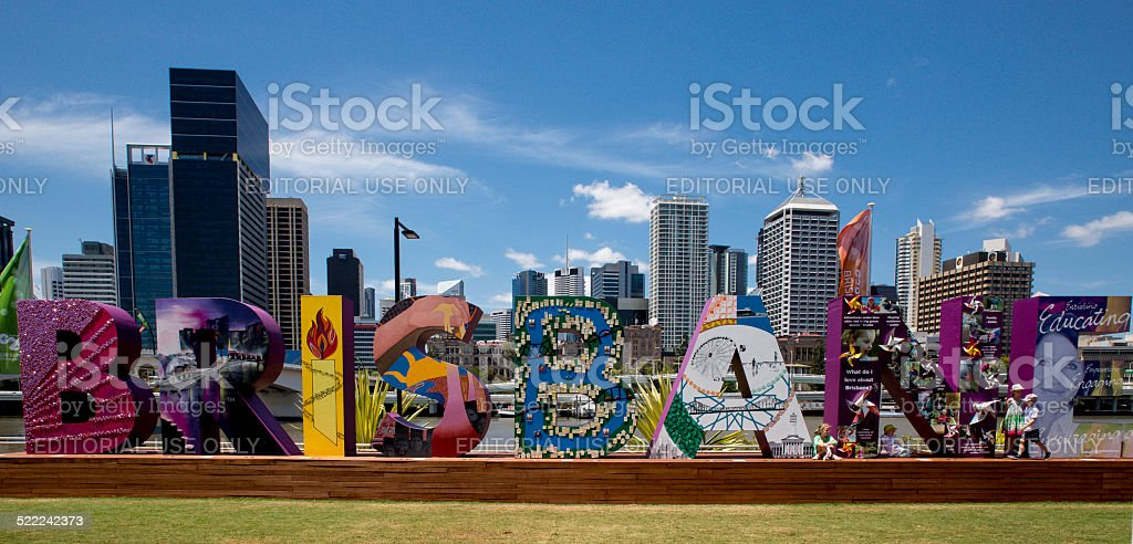 Welcome Brisbane Sign stock photo