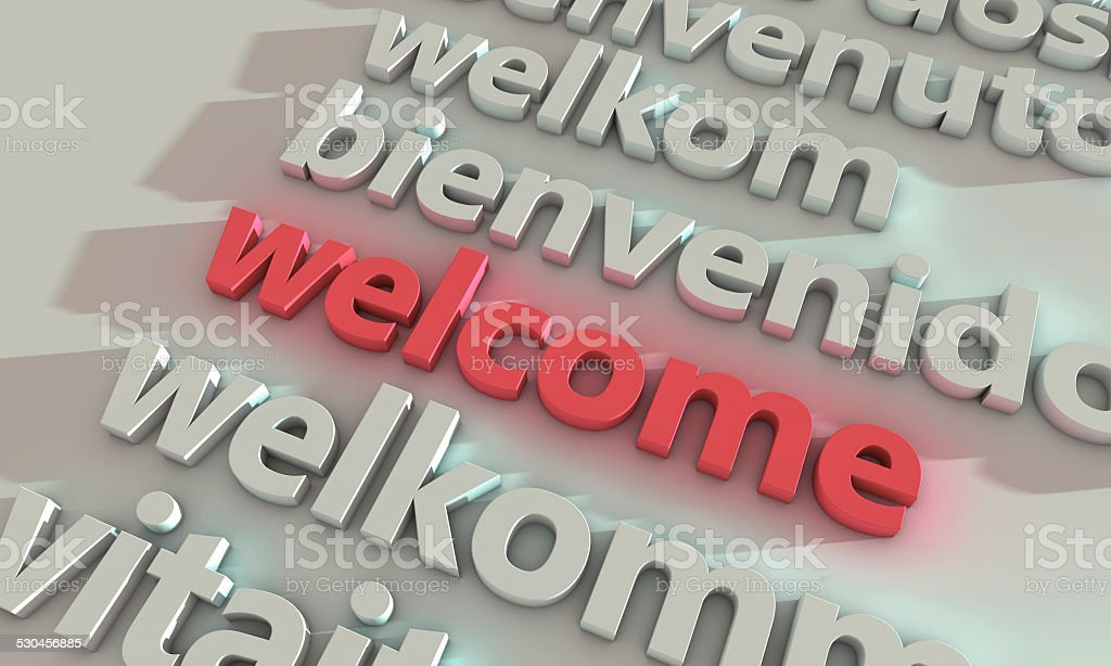 Welcome Different Language stock photo