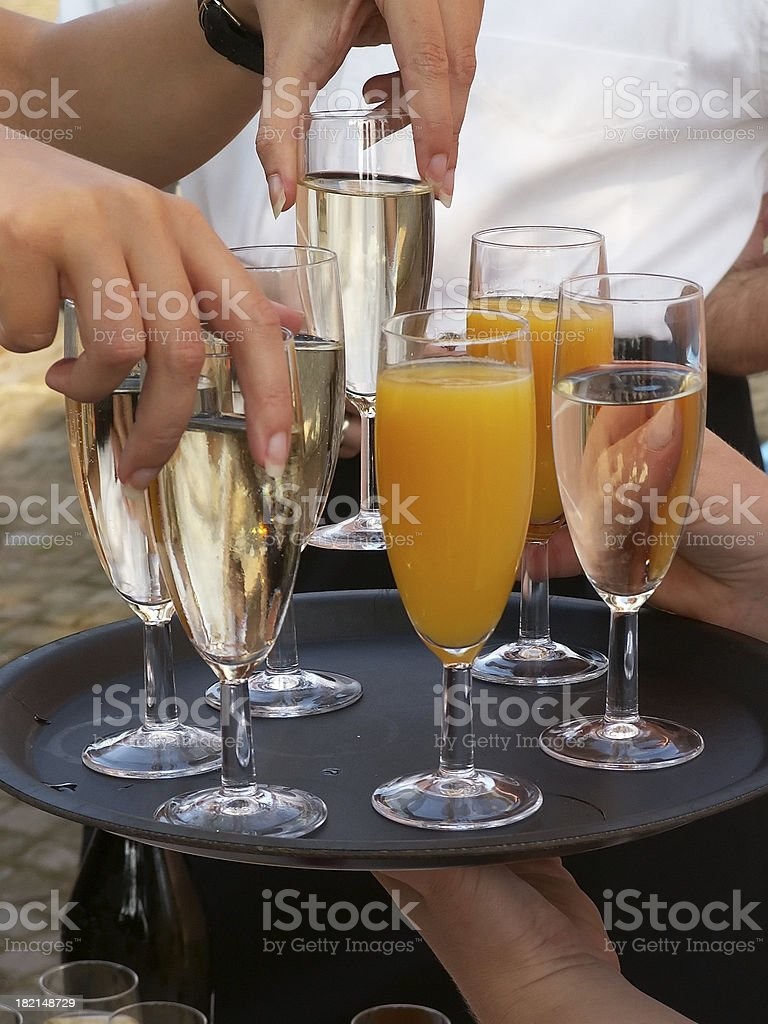 welcome drink royalty-free stock photo