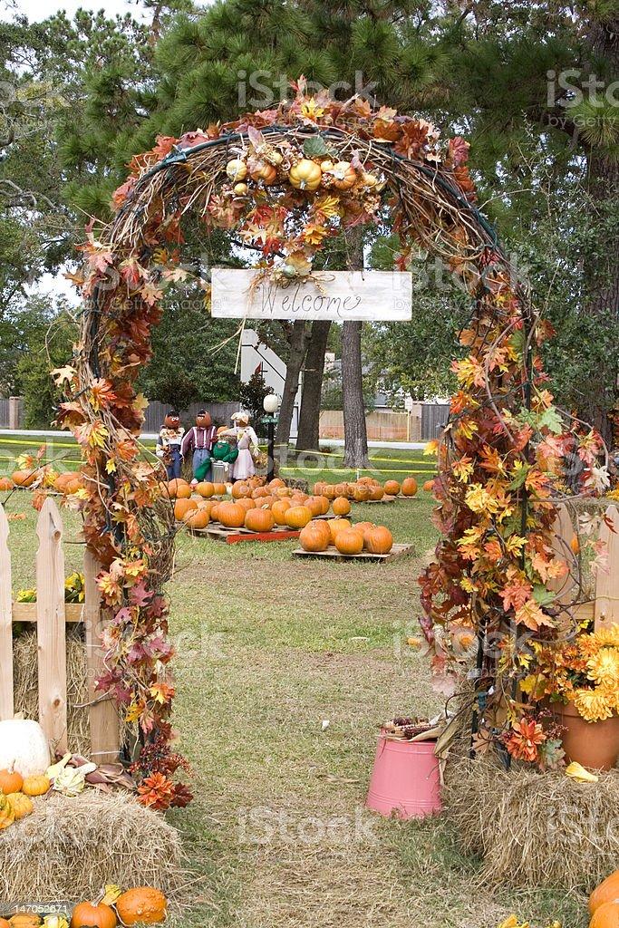 Welcome Fall Season royalty-free stock photo