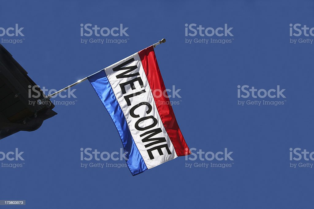 Welcome Flag royalty-free stock photo