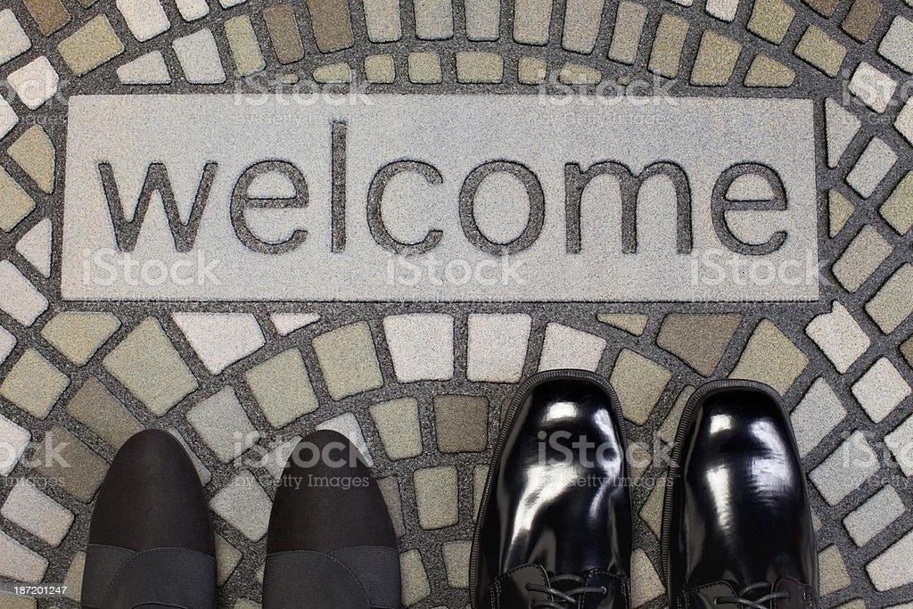 Welcome Home Doormat stock photo