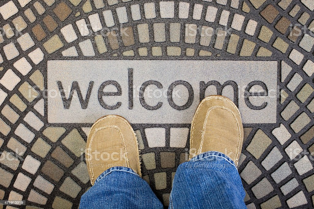 Welcome Home Friend stock photo