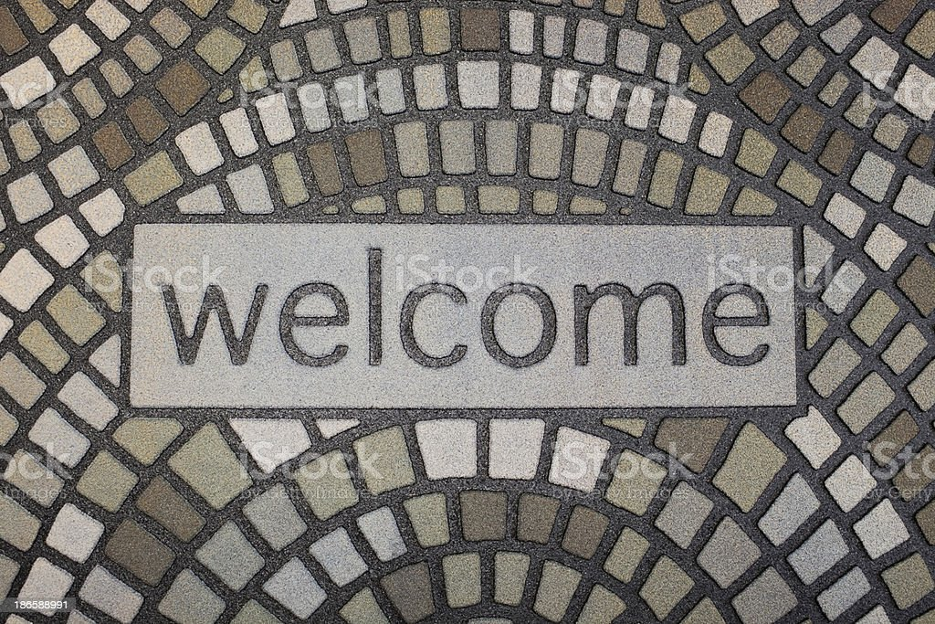 Welcome Home Mat stock photo