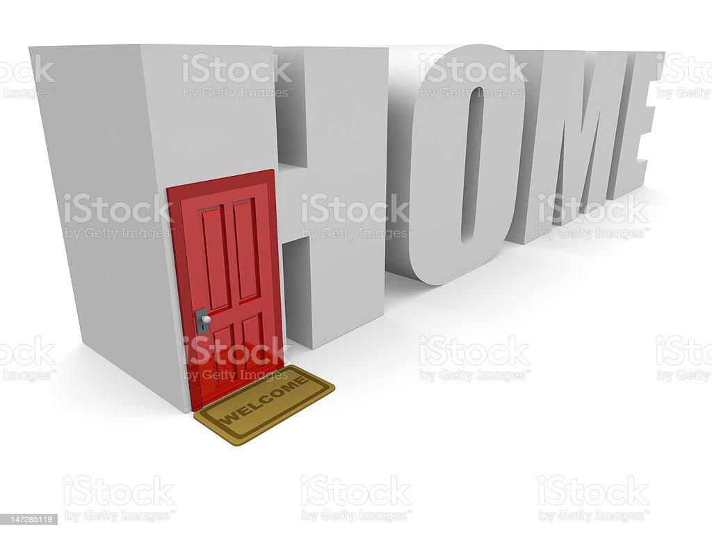 Bienvenido a casa foto de stock libre de derechos