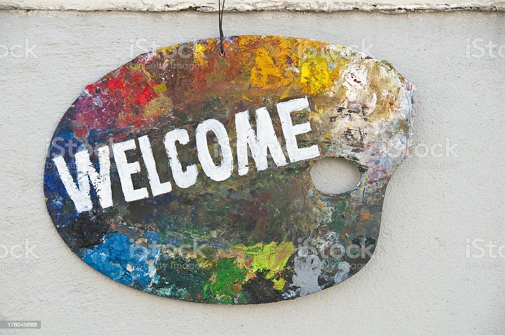 Welcome in stock photo