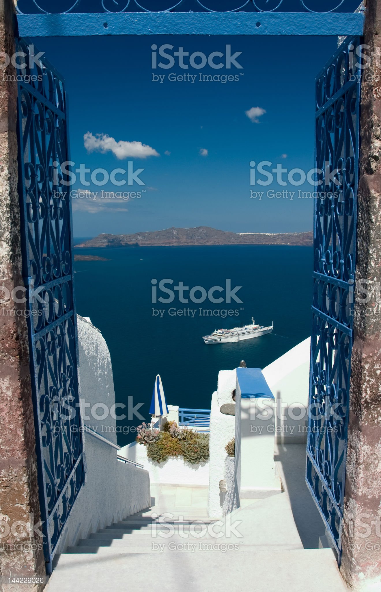 Welcome in Santorini royalty-free stock photo