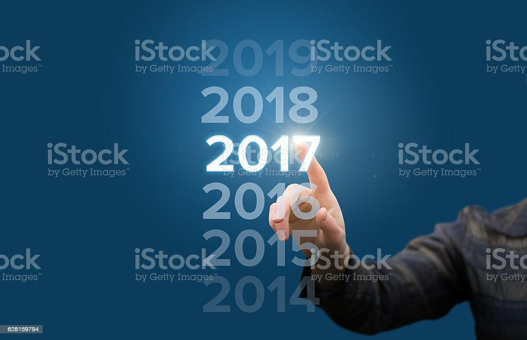 welcome in the new year stock photo