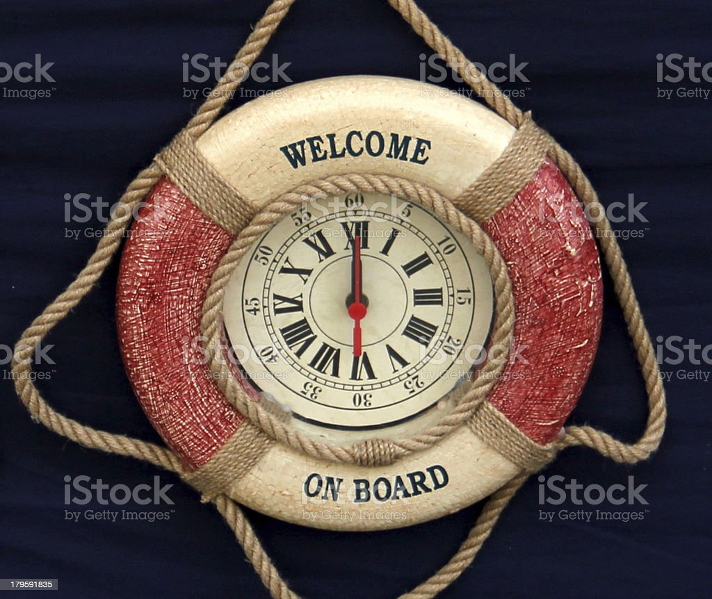 welcome on board royalty-free stock photo