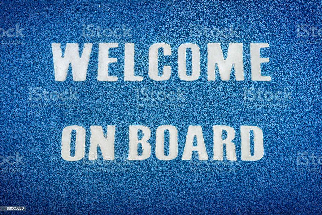 Welcome on board stock photo