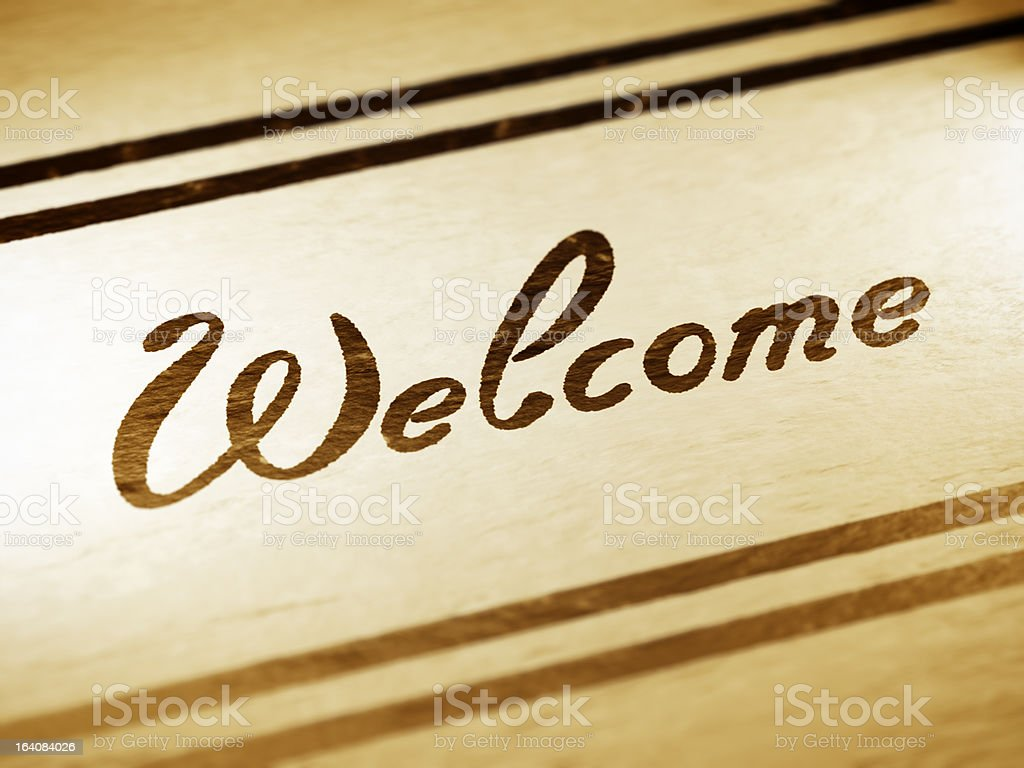 welcome royalty-free stock vector art