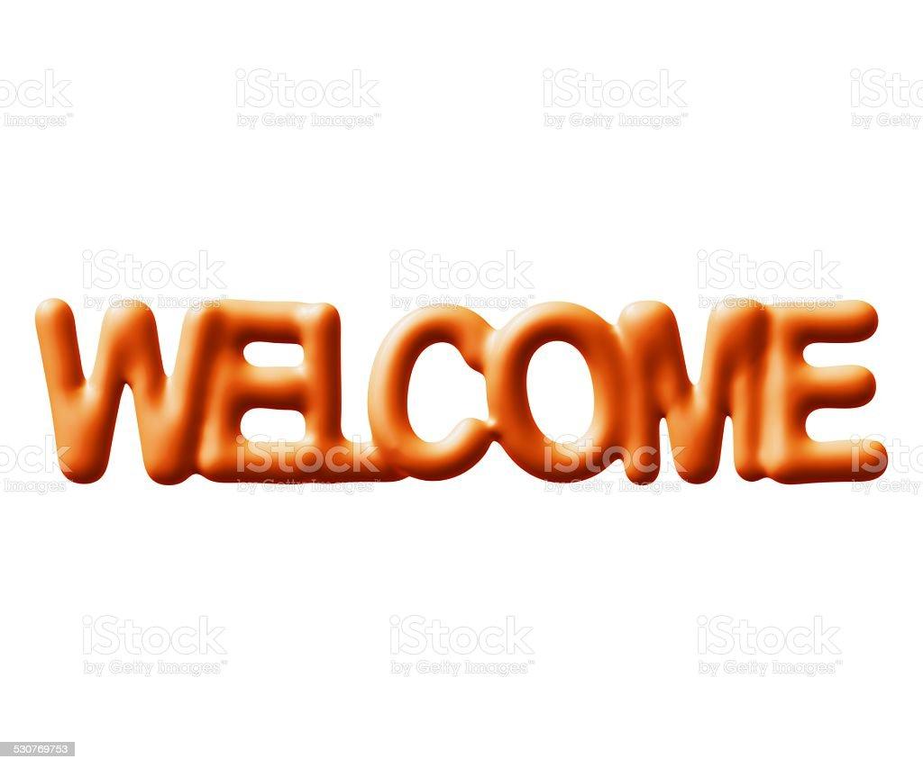 Bem-vindo foto royalty-free
