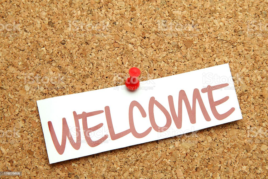 welcome sign royalty-free stock photo