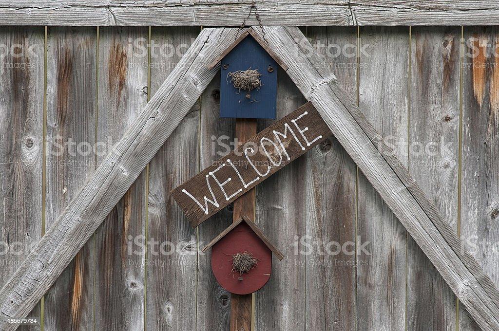 """""""Bem-vindo"""" placa foto royalty-free"""