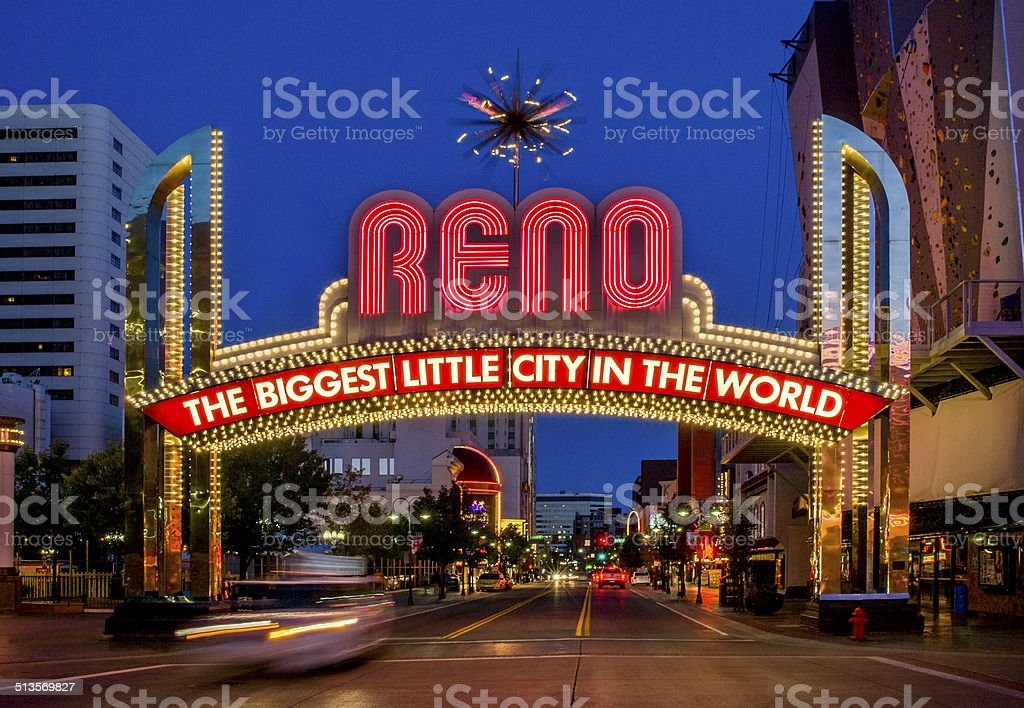 Welcome Sign, Reno, Nevada stock photo