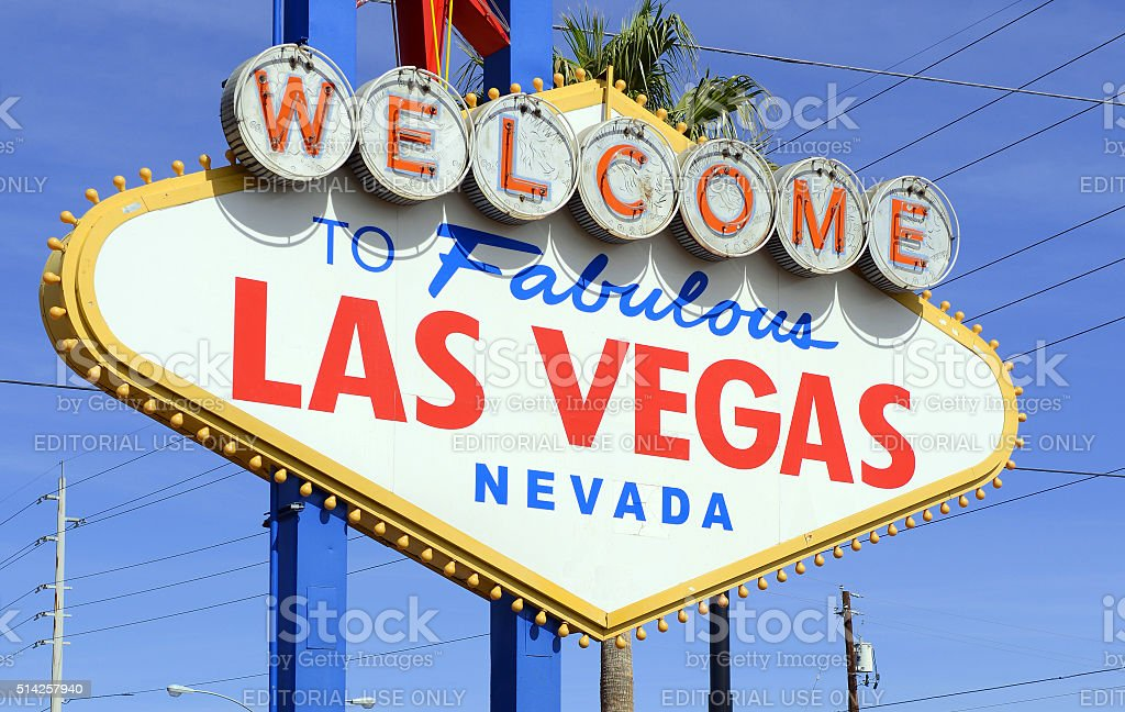 Welcome Sign to Las Vegas Nevada stock photo