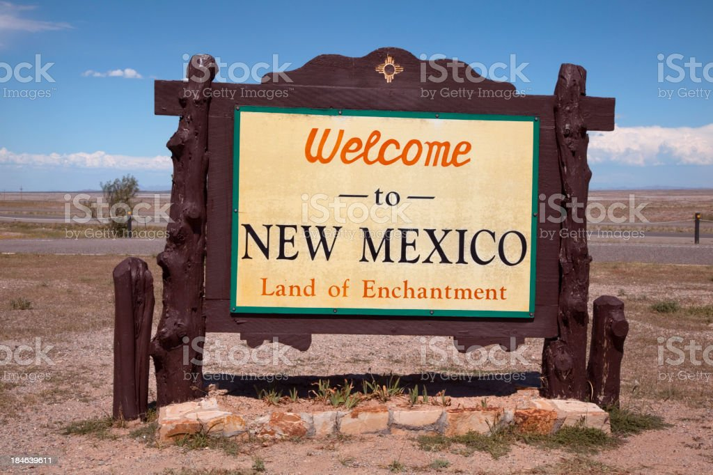 Welcome Sign_New Mexico royalty-free stock photo