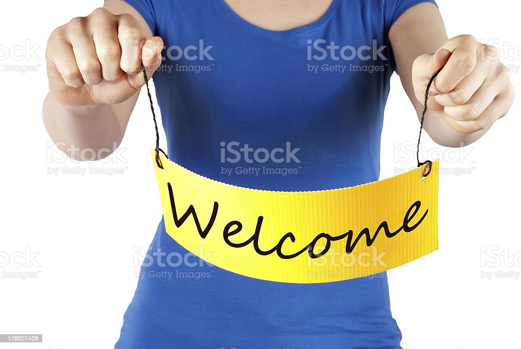 Welcome tag royalty-free stock photo