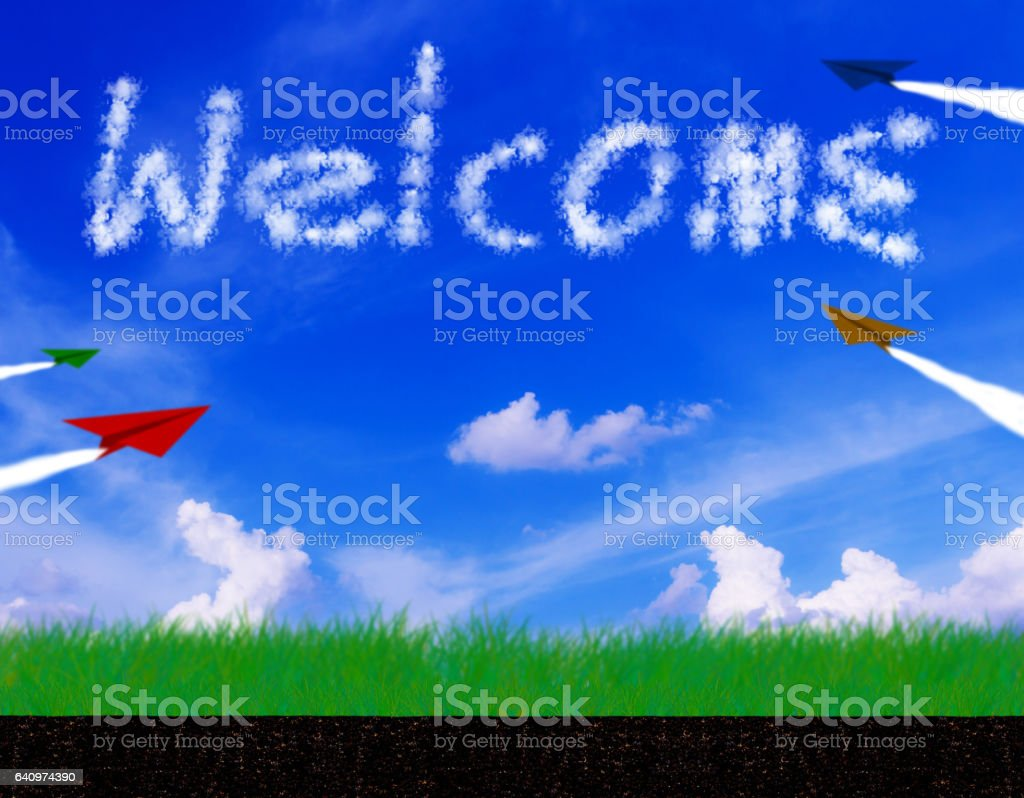 Welcome Text Concept stock photo