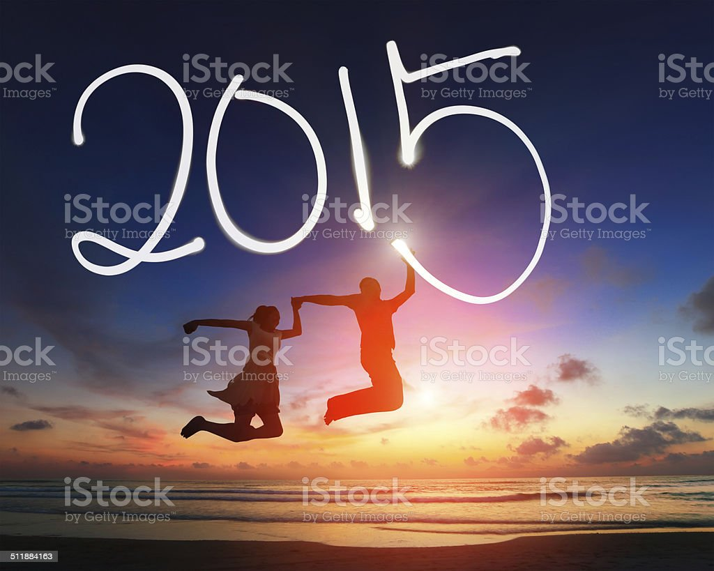 welcome to 2015 new year stock photo