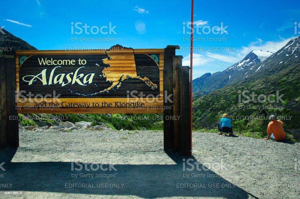 Welcome to Alaska stock photo