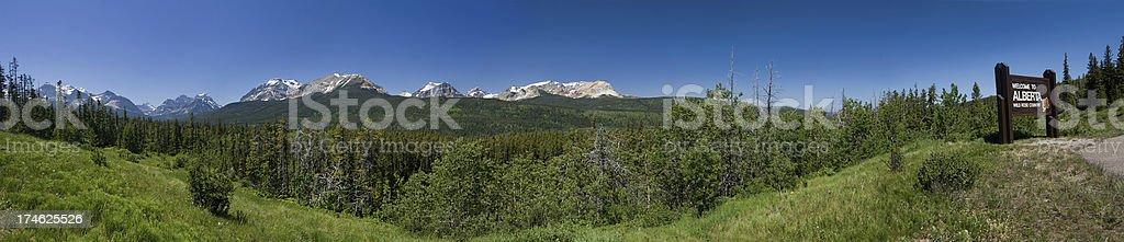 Welcome to Alberta Panorama stock photo