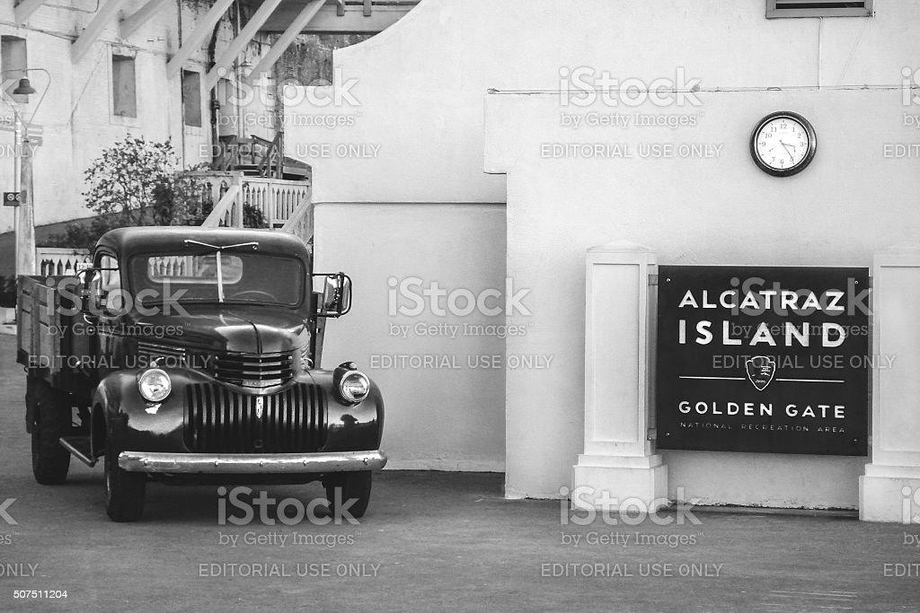 Welcome to Alcatraz Island stock photo