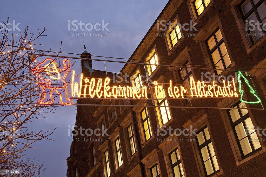 Welcome to Altstadt stock photo