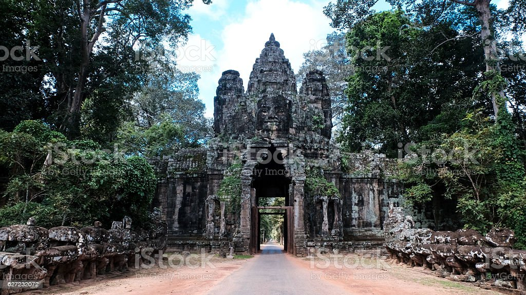 Welcome to Angkor Thom stock photo
